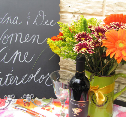 Women, Wine & Watercolor Garden Party